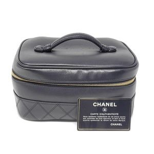 💯 Auth CHANEL Vanity/ Cosmetic Bag